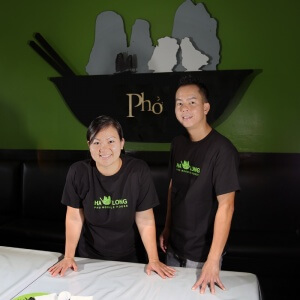 Janice and Paul Nguyen owner and operators Ha Long Pho Noodle House